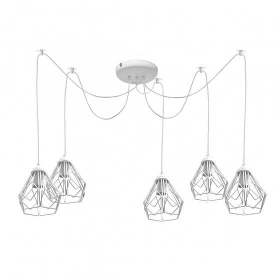 Люстра паук на пять плафонов MSK Electric Milan NL 538-5 W