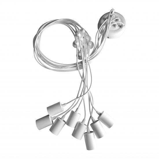 Люстра павук на вісім ламп NL 149-8w білий MSK Electric