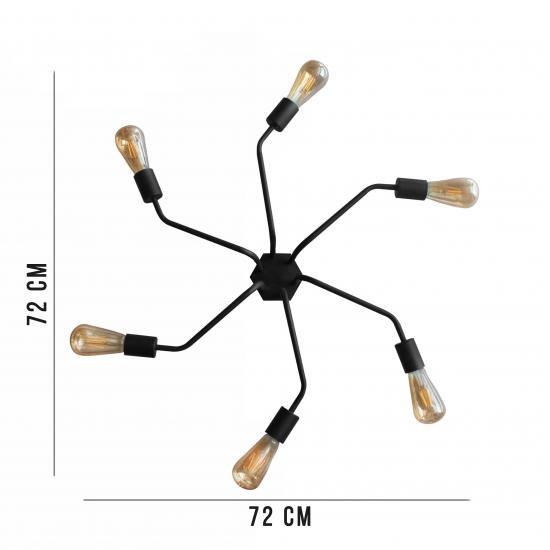 Люстра павук MSK Electric Maze лофт NL 7272/6