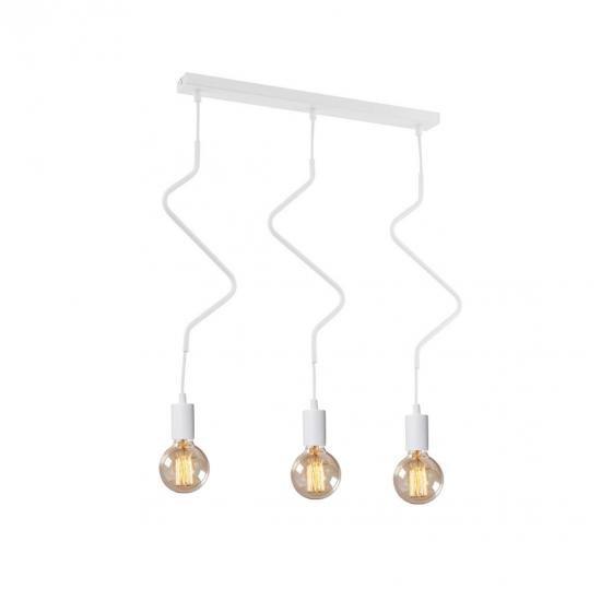 """Світильник підвісний на три лампи MSK Electric NL 1442-3w """"ZIGZAG"""""""
