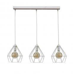 Світильник підвісний на три лампи білий NL 0537-3W MSK Electric