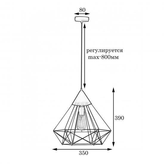 Світильник підвісний MSK Electric Crystal в стилі лофт NL 0541 BN бронза
