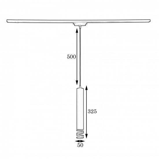 Подвесной трековый светильник в стиле лофт MSK Electric Spiral NT 3622W