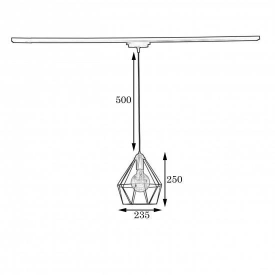 Светильник в стиле лофт MSK Electric Sierra с креплением на шинопровод NT 0537W