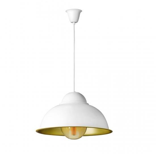 """Світильник підвісний в стилі лофт """"Купол"""" СП 3614 WH+GD MSK Electric"""