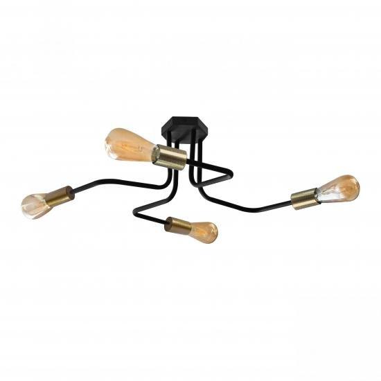 Люстра лофт MSK Electric Maze з бронзовими патронами MSK Electric NL 5050/4 BK+BN