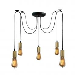 Люстра павук на п'ять ламп NL 149-5 BK+BN MSK Electric