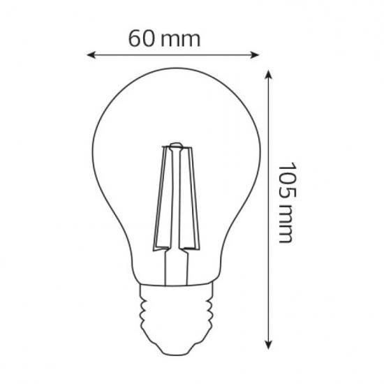 Винтажная LED лампа Filament globe-6 6W Е27 4200К HOROZ