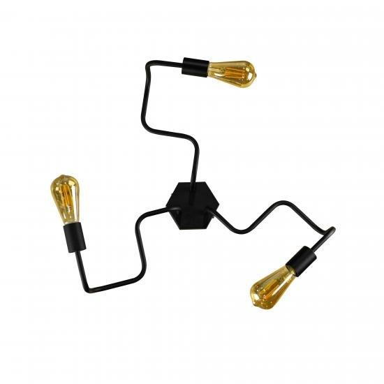 Люстра лофт на три лампи павук NL 5526-3 MSK Electric