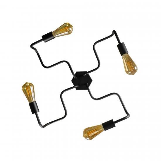 Люстра лофт на чотири лампи павук NL5526 - 4 MSK Electric