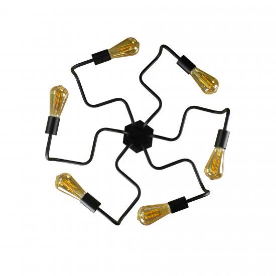 Люстра лофт MSK Electric Laminari на шість ламп павук NL5526-6