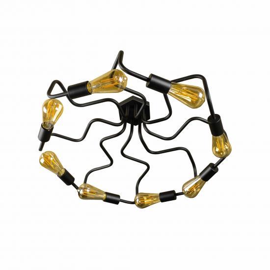 Люстра лофт MSK Electric Laminari на восемь ламп паук NL5526-8