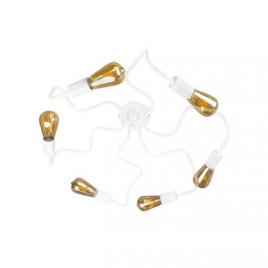 Люстра лофт на шість ламп павук NL 5526-6 W MSK Electric