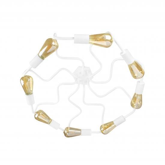 Люстра лофт на вісім ламп павук NL 5526-8 W MSK Electric