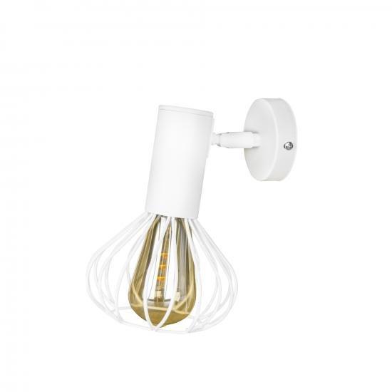 Світильник лофт настінно-стельовий MSK Electric Lotus NL 14151-1 WH