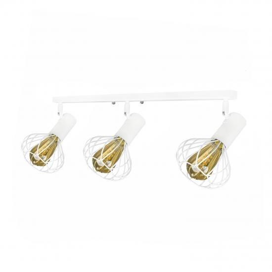 Світильник лофт настінно-стельовий MSK Electric Lotus NL 14151-3 WH