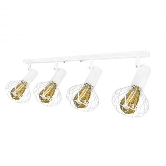 Світильник лофт настінно-стельовий MSK Electric Lotus NL 14151-4 WH