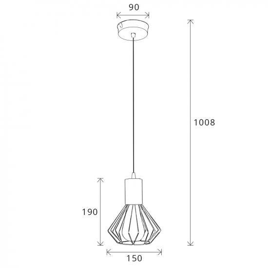Світильник лофт MSK Electric Diadem підвісний бронза NL 2215 BN