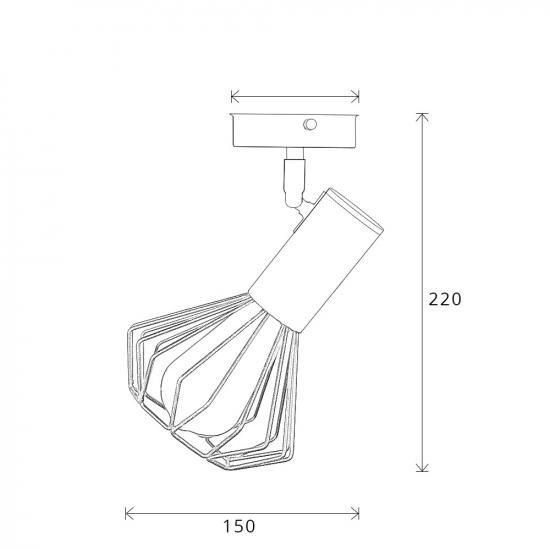 Світильник лофт MSK Electric Diadem настінно-стельовий NL 22151-1W білий