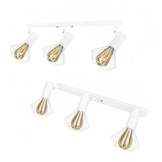 Светильник лофт MSK Electric Diadem настенно-потолочный NL 22151-3W белый