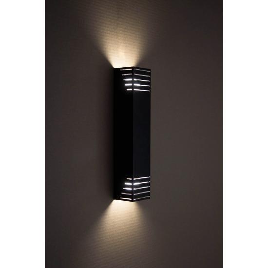 Светильник настенный MSK Electric бра под две лампы NL 23701-1 BK черный