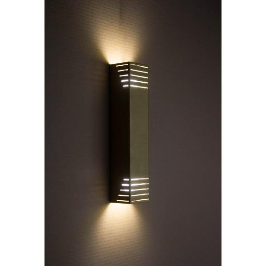 Светильник настенный MSK Electric бра под две лампы NL 23701-1 BN золото муар