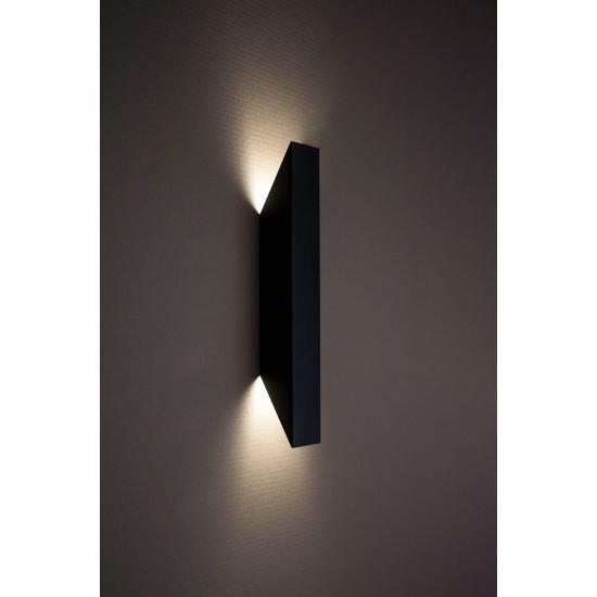 Світильник настінний MSK Electric Vega бра під дві лампи NL 24101-1 BK чорний