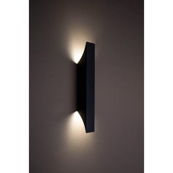 Світильник настінний MSK Electric Vega бра під дві лампи NL 24201-1 BK чорний