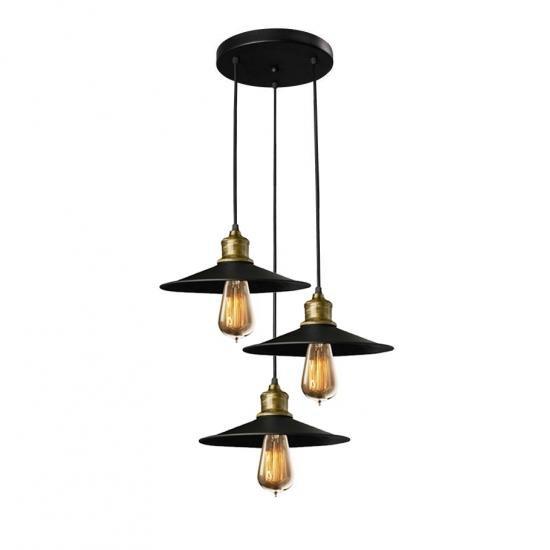 Світильник підвісний в стилі лофт на три лампи MSK Electric NL 117-260-3R