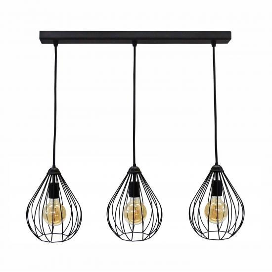 Світильник підвісний в стилі лофт на три лампи MSK Electric Kaplya NL 2229-3