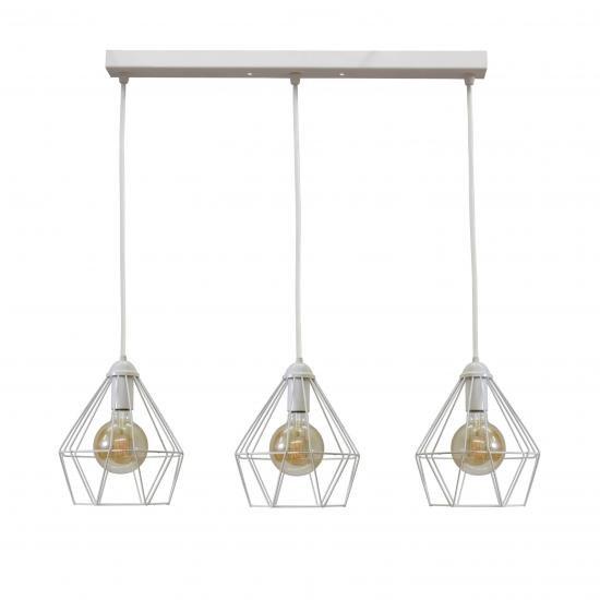 Светильник подвесной MSK Electric Sierra на три лампы белый NL 0537-3W