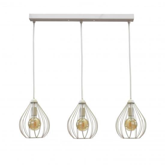 Светильник подвесной в стиле лофт на три лампы MSK Electric Kaplya NL 2229-3W