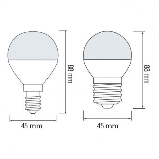 "LED лампа ""шарик"" G-45 6W 3000K E-27 Horoz Elite-6"