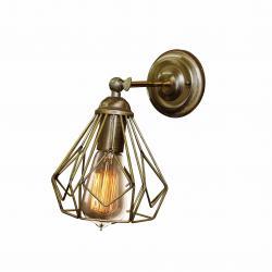 Бра в стилі лофт MSK Electric бронзового кольору NL 5380-1 BN
