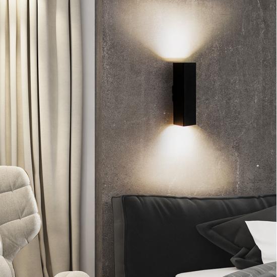 Світильник настінний бра під дві лампи квадрат Е27 SQ 2206 MSK Electric