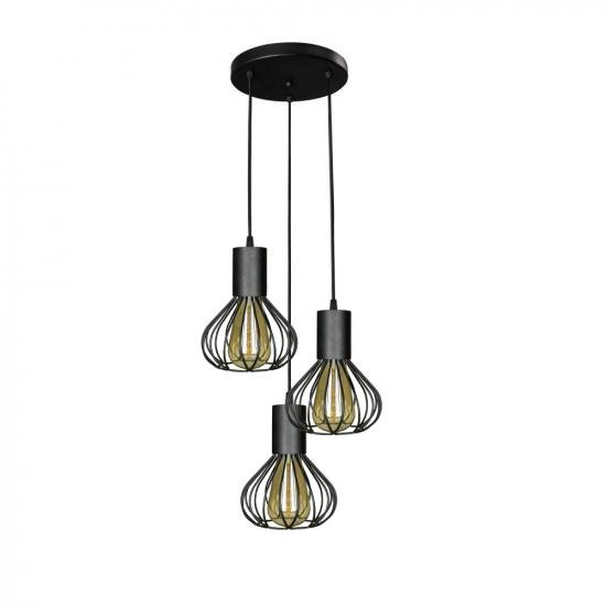Світильник лофт підвісний на круглому підставі MSK Electric NL 1415-3R