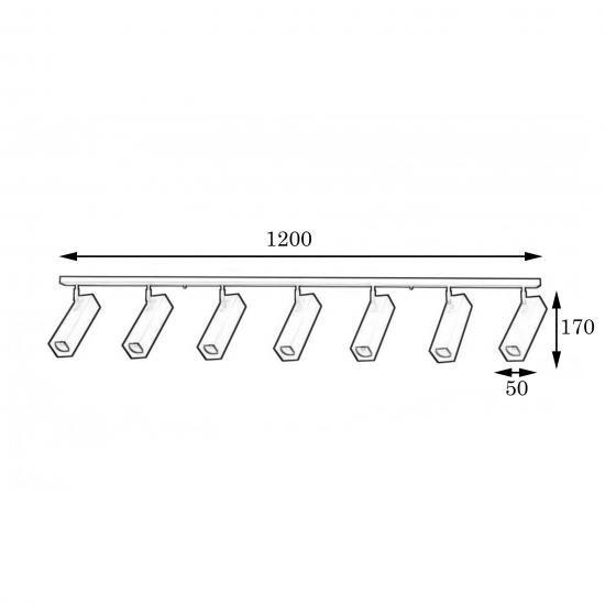 Люстра лофт MSK Electric Verona потолочная с поворотными плафонами SQ 1750-7